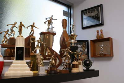 Collecting Bowling Trophies