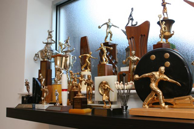 Retro Bowling Trophies