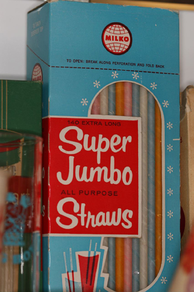 Vintage Box of Drinking Straws