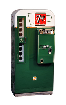 choosing a 1950s classic soda machine to restore. Black Bedroom Furniture Sets. Home Design Ideas