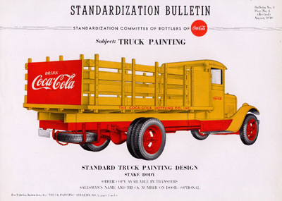 1948 Coca-Cola Truck Painting Standardization Bulletin