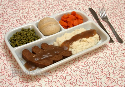 TV Dinner Tray-Retro Style Ceramic Dish