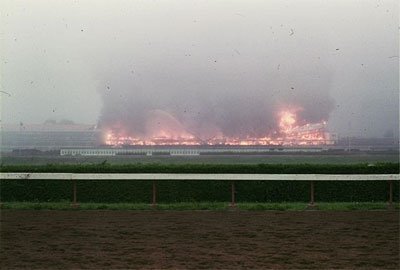 Distance view of the Rockingham Park Fire in 1980