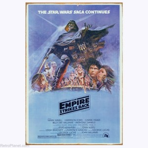 The Empire Strikes Back Movie Poster Sign