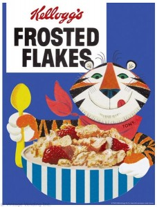 Kellogg's Frosted Flakes Metal Sign