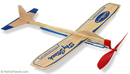 Balsa Wood Sky Streak Airplane