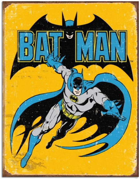 Batman Vintage Comics Tin Sign