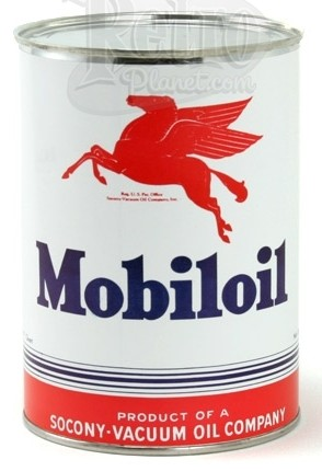 Reproduction Mobiloil Can