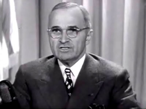 Pres. Harry Truman Television Speech