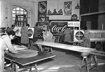 Coca-Cola Advertising Signs Italy