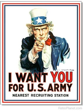Uncle Sam I Want You U.S. Army Sign