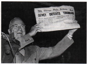 1948 Harry Truman Chicago Tribune Headline