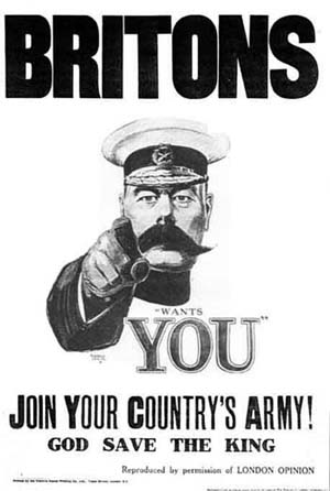 Original Kitchener World War I Recruitment poster