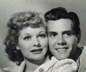 Young Lucille Ball and Desi Arnaz