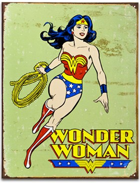 Wonder Woman Retro Sign