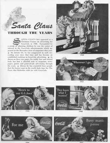 Santa in Coke Advertising