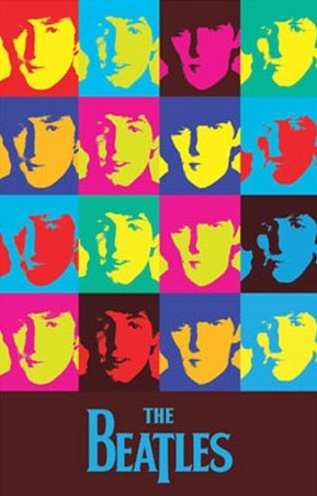 Beatles Warhol Pop Art Poster 24 x 36