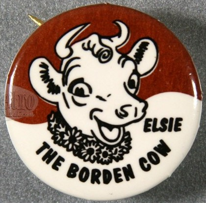 Elsie The Borden Cow Button