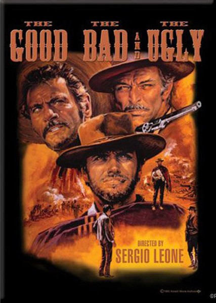 The Good The Bad The Ugly Sepia Magnet