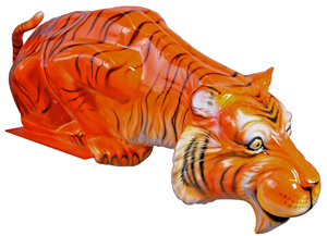 Esso Tiger Restored Statue