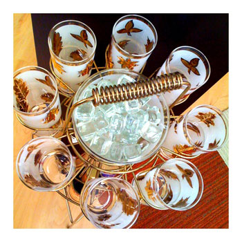 Vintage Drinking Glasses-iPhone App Camera Bag Photo