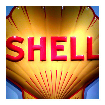 Vintage Shell Clamshell Sign-iPhone App Camera Bag Photo