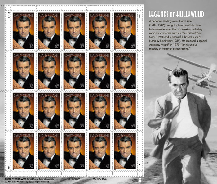 Cary Grant Postage Stamps
