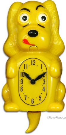 The Pooch Yellow Animated Wall Clock