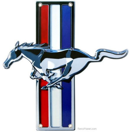 Ford Mustang Badge Tin Sign
