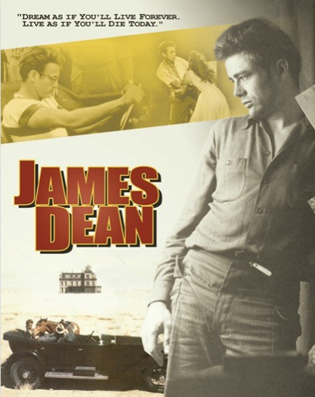 James Dean Dream As If You'll Live Forever Metal Sign