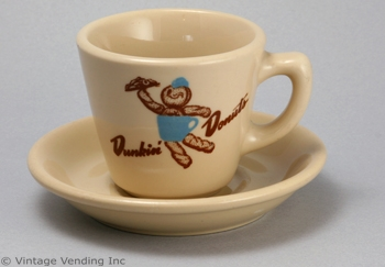 Dunkin Donuts Vintage Cup and Saucer