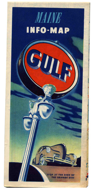 Gulf Oil Maine Info-Map