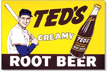 Ted Williams Root Beer Metal Sign