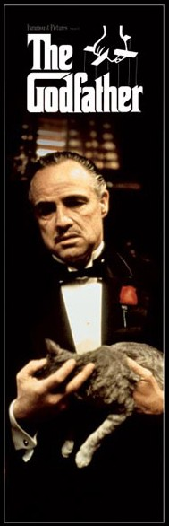The Godfather Cat 21 x 62 Door Poster