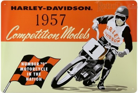 Harley-Davidson ® Competition Metal Sign