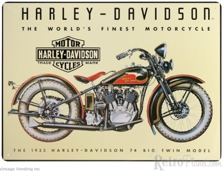 1933 Harley Davidson Big Twin Sign