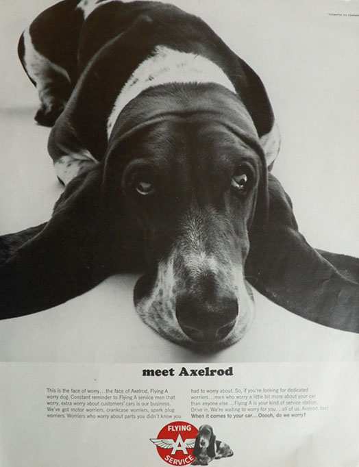 Image of Axelrod in Flying A Ad