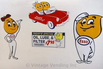 Esso Oil Drop Man and Girl