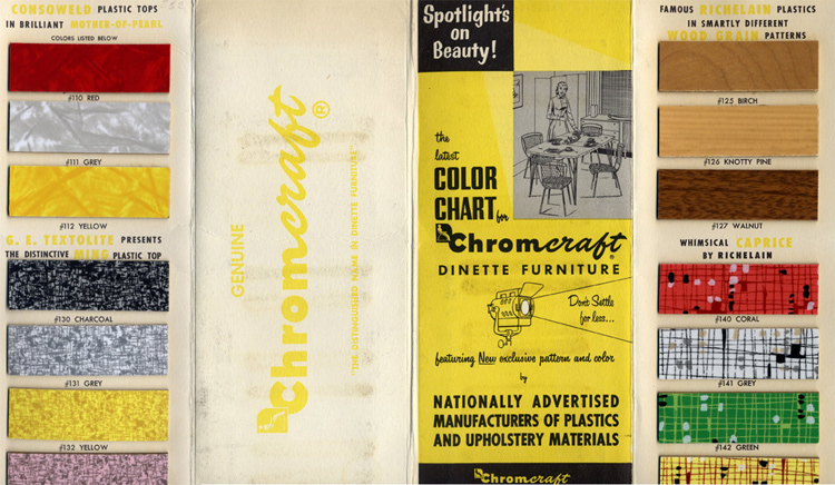 Chromcraft 1950s Color Chart