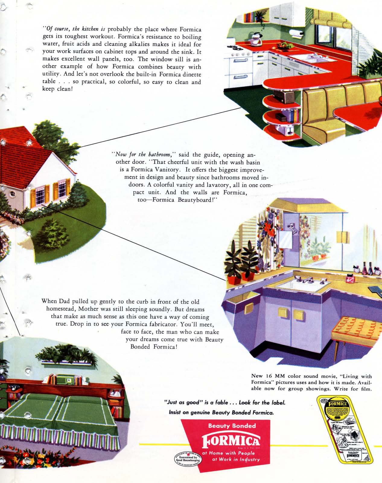 Formica Story 1951 Dream Brochure