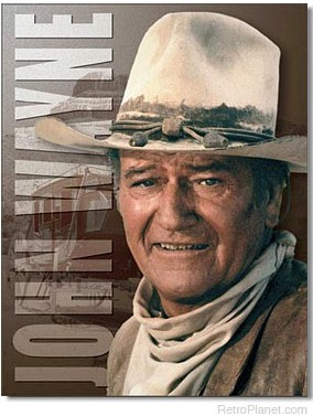John Wayne Stagecoach Metal Sign