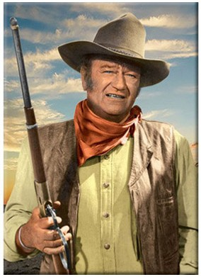 John Wayne with Rifle Magnet