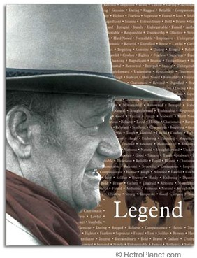 Legend of John Wayne Tin Sign