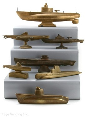Trench Art Brass Submarine Collection