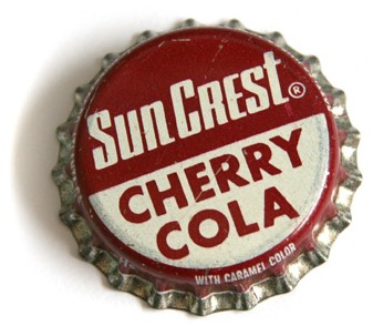 Sun Crest Cherry Cola Bottle Cap