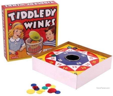 Retro Tiddledy Winks Game