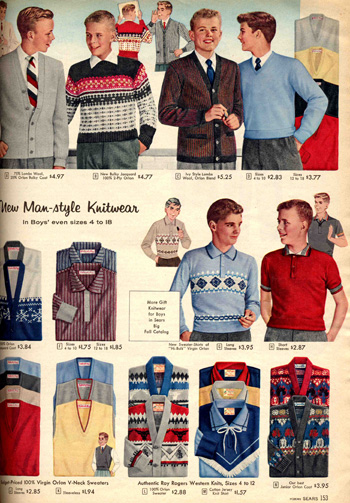 1957 Sears Boys Clothing Catalog