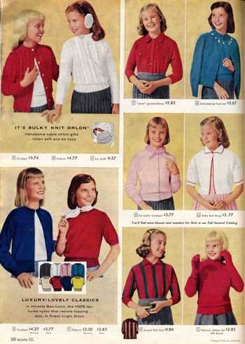 Sears Catalog 1957 Girls Clothing
