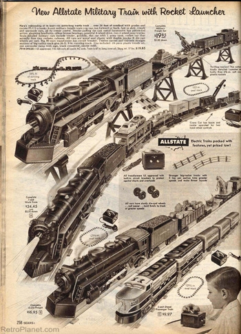 1950s marx electric train sets - Sears Christmas Catalog