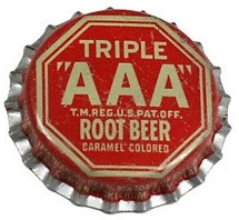 Triple AAA Root Beer Bottlecap